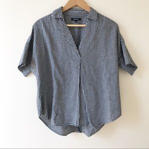 MADEWELL Courier Button-Back Gingham Check Shirt
